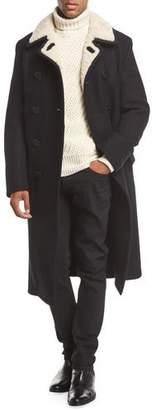 Tom Ford Shearling-Trim Pea Coat