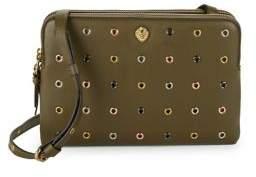 Anne Klein Dual Zip Leather Crossbody Bag