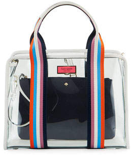 Kate Spade Clear Stripe Medium Satchel Bag