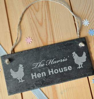 Sweet Pea Design Personalised Hen House Slate Sign