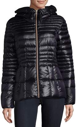 Karl Lagerfeld Paris Women's Hooded Down Coat