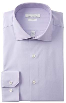 Perry Ellis Woven Slim Fit Tech Shirt