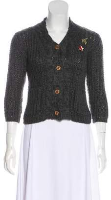Catimini Girls' Knit Appliqué Cardigan w/ Tags