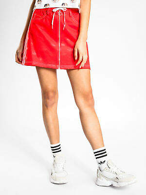 adidas New Womens Fiorucci Skirt In Red Skirts Mini Collaborations