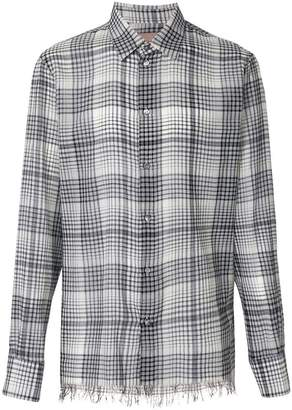 Federico Curradi checkered fringed hem shirt