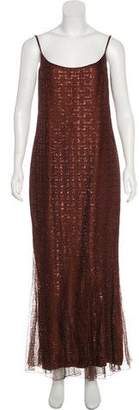 Chanel Metallic Evening Dress