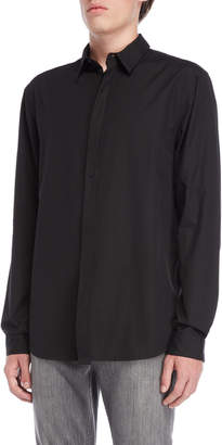 Helmut Lang Detached Placket Long Sleeve Shirt