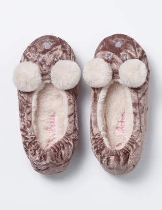 Velvet Bear Slippers