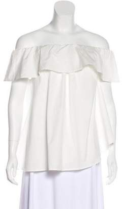 Hatch Ruffle-Accented Off-The-Shoulder Top