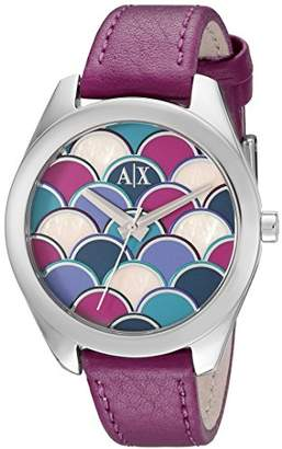 Armani Exchange Women's AX5523 Analog Display Analog Quartz Purple Watch