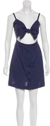 Reformation Front Tie Mini Dress