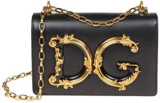 Dolce & Gabbana Shoulder Bag Girls In Nappa Color Black