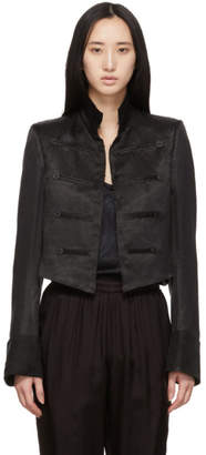 Ann Demeulemeester Black Cropped Jacket