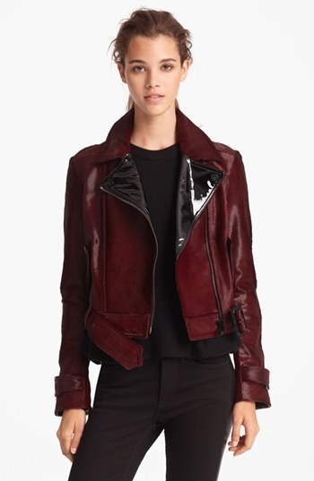 Burberry Genuine Calf Hair Moto Jacket