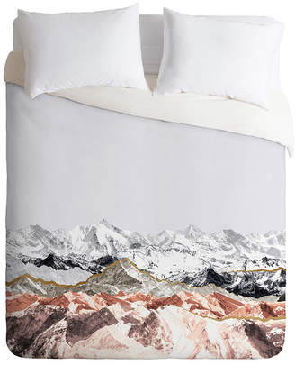 Deny Designs Iveta Abolina Pastel Mountains I Twin Duvet Set Bedding