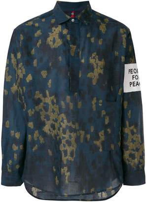 Oamc paint effect shirt
