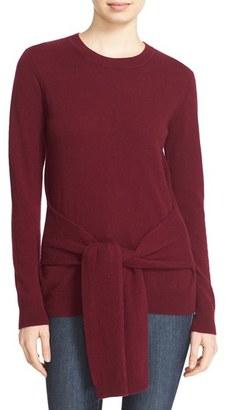 Women's Autumn Cashmere Tie Front Cashmere Sweater $319 thestylecure.com