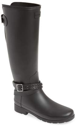 Hunter Refined Adjustable Back Knee High Rain Boot