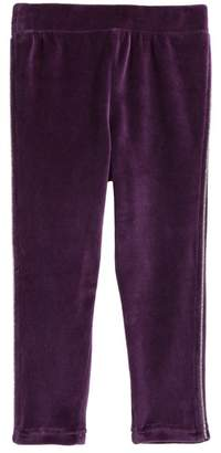 Tea Collection Velour Track Pants (Baby Girls & Toddler)