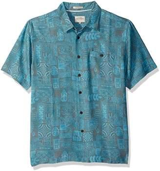 Quiksilver Men's Tikitaka Comfort Fit Button Down Shirt