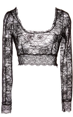 Dundas Stretch Lace Crop Top