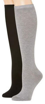 MIXIT Mixit 2 Pair Rayon from Bamboo Knee High Socks - Womens