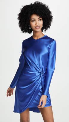 Mason by Michelle Mason Long Sleeve Twist Knot Mini Dress