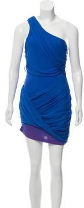 Alice + Olivia One-Shoulder Ruffle Dress
