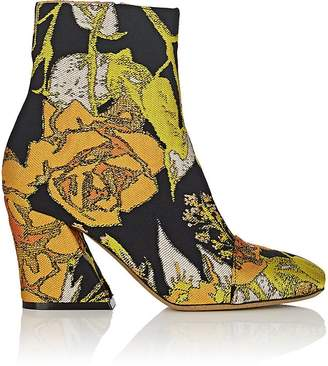 Dries Van Noten Women's Floral Jacquard Ankle Boots