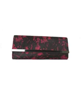 Moda In Pelle Long Clutch With Metal Bar