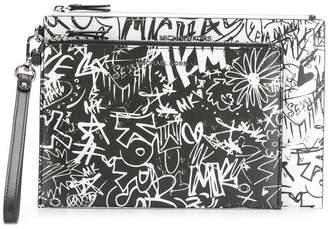 MICHAEL Michael Kors graffiti clutch bag