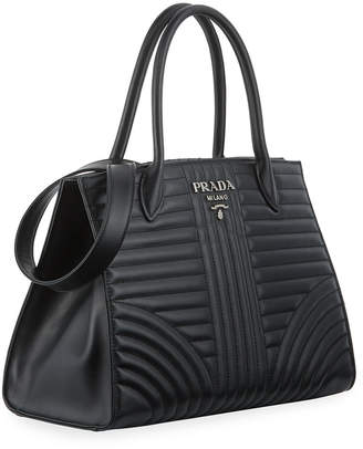 aa6e700c8e1d Prada Diagramme Tote with Removable Crossbody Strap