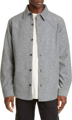 BILLY Los Angeles Oversize Button-Up Wool Blend Western Shirt