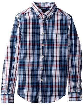 Polo Ralph Lauren Cotton Madras Shirt Boy's Clothing