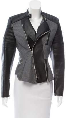 3.1 Phillip Lim Leather-Paneled Wool Jacket