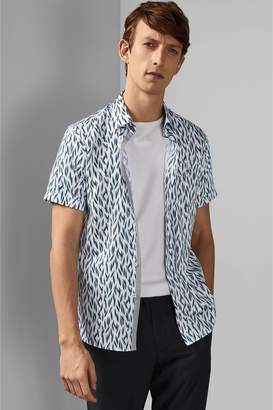 Next Mens Ted Baker Short Sleeve Shirt