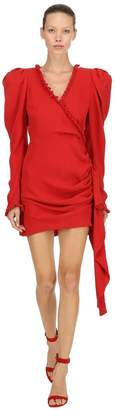 Magda Butrym Crepe De Chine Wrap Mini Dress
