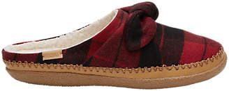 Toms Ivy Plaid Bow Slippers, Red Plaid