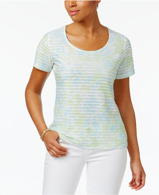 Karen Scott Print Ruffled Top, Only at Macy's $29.50 thestylecure.com