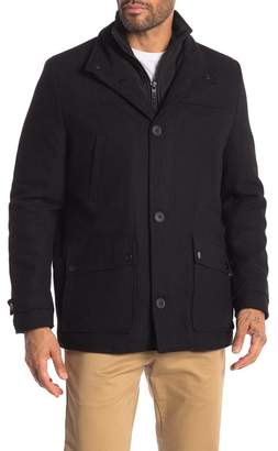Kenneth Cole New York Car Double Zip Coat