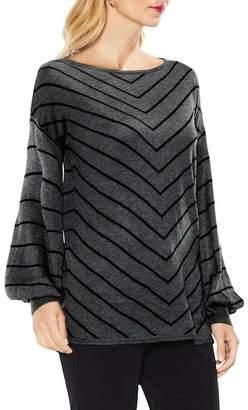 Vince Camuto Chevron Intarsia Sweater (Petite)