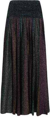 Circus Hotel Lurex Pleated Skirt