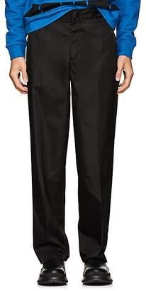 Prada Men's Tech-Twill Wide-Leg Trousers