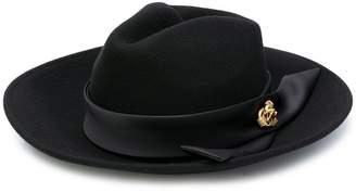 Elisabetta Franchi brooch embellished hat