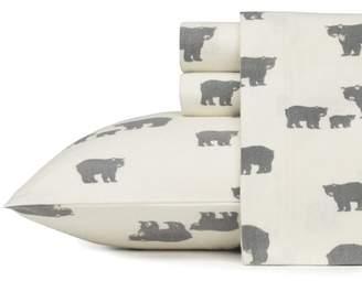 Eddie Bauer Bear Family 100% Cotton Flannel Sheet Set
