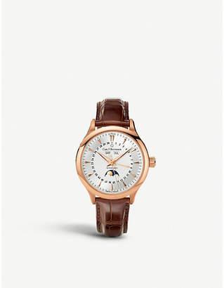 Rosegold CARL F BUCHERER 00.10909.03.13.01 rose-gold slim leather strap watch