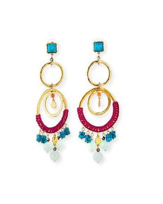 Sequin Two-Tier Wrapped Statement Earrings