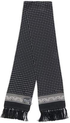 Dolce & Gabbana fringed printed scarf