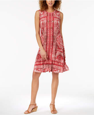 Style&Co. Style & Co Printed Swing Dress, Created for Macy's