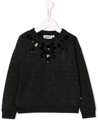 Molo embellished speckle sweater